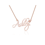 Personalized Name Necklace Sterling Silver - Word Necklace