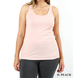 Tank Top Ribbed in Sherbet Lavendar and Peach  Plus Size