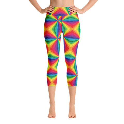 rain Yoga Capri Leggings