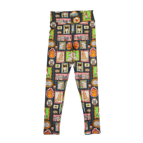 Animal Portrait Cats and Dogs Leggings