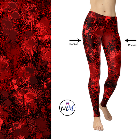 WS - Heart Blood Leggings Full Length with Pockets