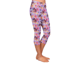 Pink Butterfly Fairy Leggings with Bicycle