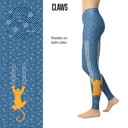 WS - Claws Cat Scratch Leggings and Pockets