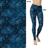 Blue Cloudy Sky Leggings