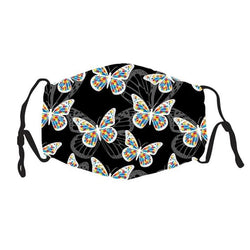 Kids Face Cover -  Autism Butterfly - Reuseable with 5 Filter Inserts - Ready to Ship
