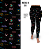 Mother of Dogs - Hearts Dog Mom Leggings and Pockets