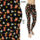 Fox Family Leggings with Pockets
