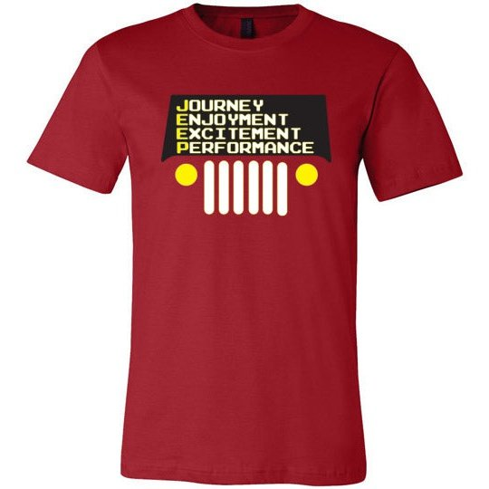 Jeeper Shirt  Journey, Enjoyment, Excitemet, Performance