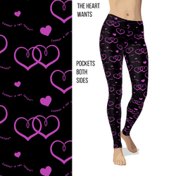 The Hearts Wants Valentine Leggings