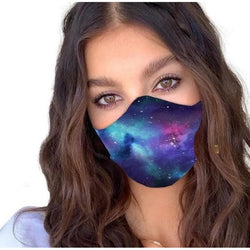 Face Cover - Galaxy - Reuseable with 5 Filter Inserts - Ready to Ship