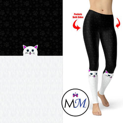 WS Cat Leggings Sock Style with Pockets