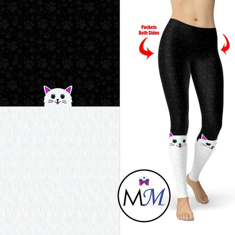 Cat Leggings Sock Style with Pockets