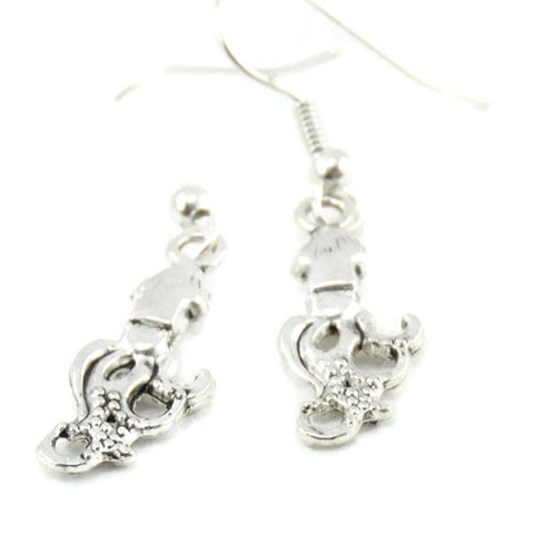 Squid Antique Silver Earrings