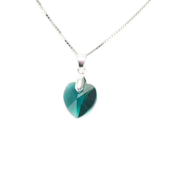 Sterling Silver Swarovski Birthstone Necklace - Custom