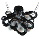 Inara Octopus Pendant - Handpainted Jewelled Purple And Blue