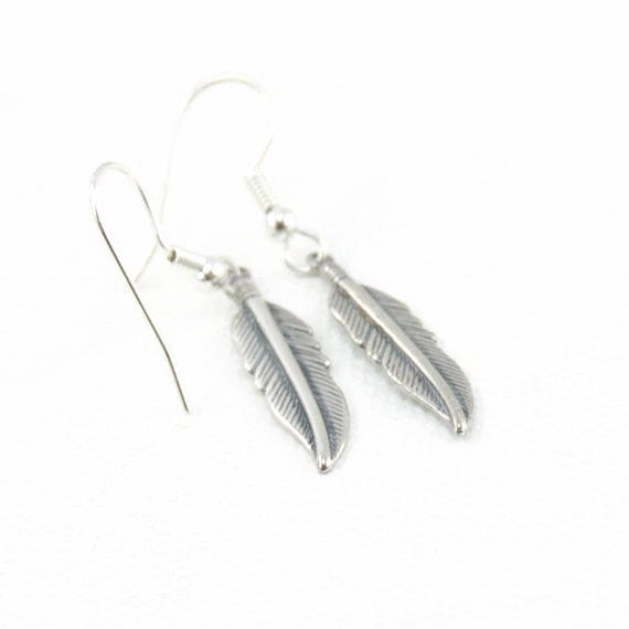 Feather Shaped Metal Earrings