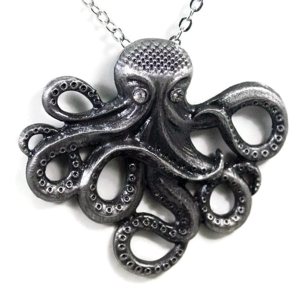 Silver Small Octopus Pendant