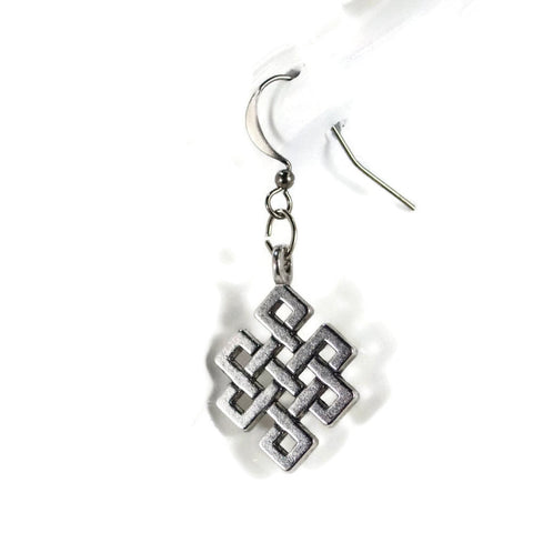 Celtic Knot Silver Dangle Earrings