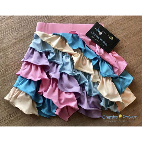 Girls Ruffle Skirt in Sherbet