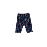 Jeeper 4x4 Colorful Black Bike Shorts