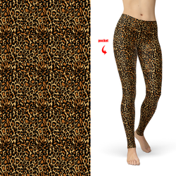 Leopard Skin Leggings with Pockets