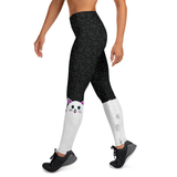 WS Cat On Side Sock Style with Pockets -