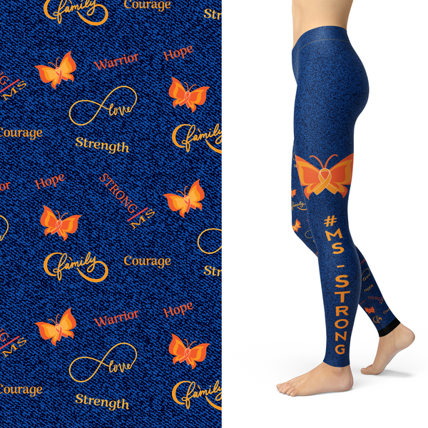 MS Strong Awareness Leggings