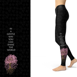 WS Cherry Blossum Sakura Tree Leggings