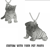 Silhouette Pendant  of your pet  Dog, Cat or any Favorite Animal