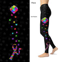 Autism Awareness Leggings Small Pieces Make Big Pictures