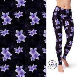 Purple Haze Floral Leggings