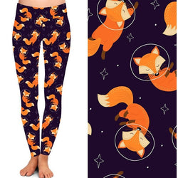 Fox Foxy Leggings in Space Leggings - Ready to Ship