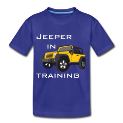 Jeeper in Training Youth Kids' Premium T-Shirt - royal blue