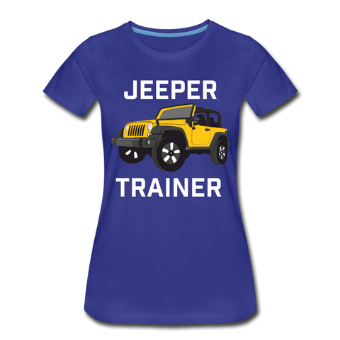 Jeeper Trainer Women's Premium T-Shirt - royal blue