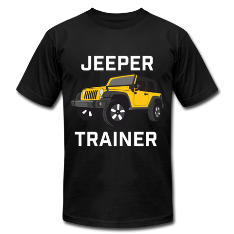 Jeeper Trainer T-Shirt by Bella + Canvas - black