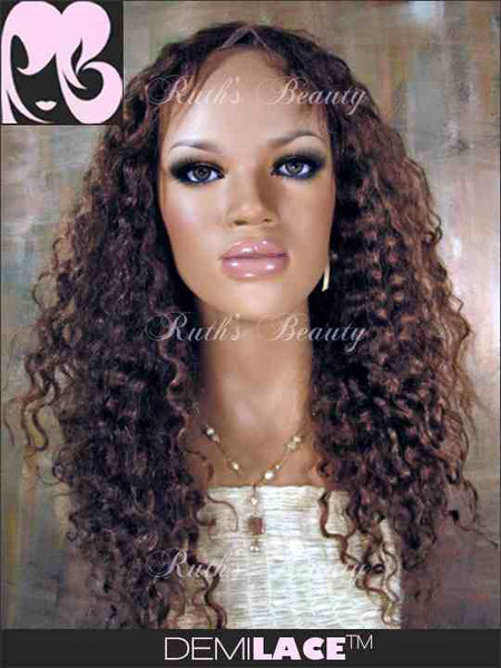 Clearance LACE FRONT WIG: Cecilia Curly Indian Remy 18inches Natural Color