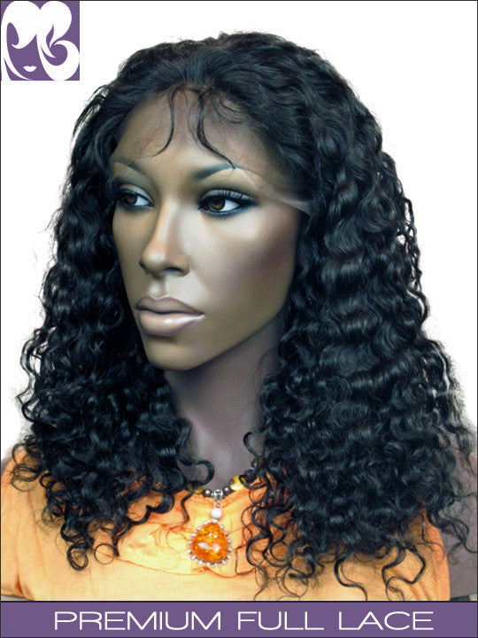 CLEARANCE FULL LACE WIG: Maylla Somanlian Curly- Virgin Malaysian, Small Cap 18