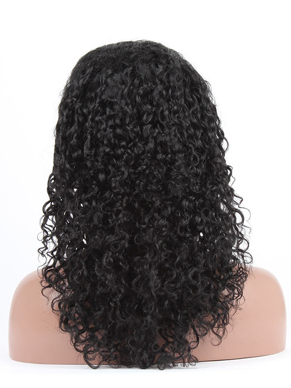 Clearance LACE FRONT WIG: Cecilia Curly Indian Remy 18inches Jet Black