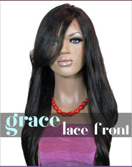 LACE FRONT WIG: Anne Professionally Cut Indian Virgin Remy