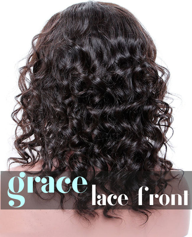 LACE FRONT WIG: Short Curly Free Part Bob Wig