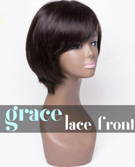 Short Bob Lace Front Wig Straight Left Part