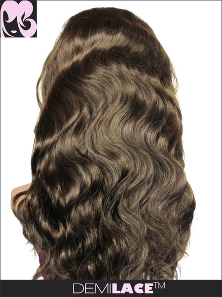 LACE FRONT WIG: Caramel Waves Indian Remy