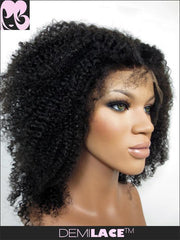 LACE FRONT WIG: Kiki Afro Kinky Curly Indian Remy