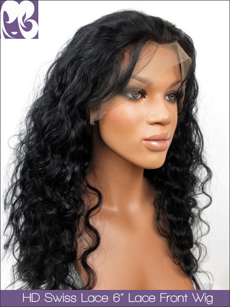 HD SWISS LACE : Lace Front Wig Ruth's Ripple Deep Body Wave Virgin Hair