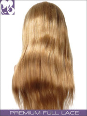FULL LACE WIG: Straight Blonde W Dark Roots 18inches Medium Cap