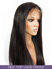 GLUELESS SILK TOP LACE FRONT WIG: Silky Straight