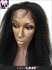 LACE FRONT WIG: Kyra Afro Kinky Curly Indian Remy