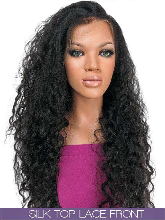 GLUELESS SILK TOP LACE FRONT WIG: Jasmine Brazilian Curl