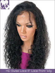 HD SWISS LACE : Lace Front Wig Jasmine Curl Virgin Hair 150%