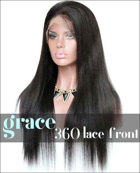 360 Lace Wig:Yaki Straight